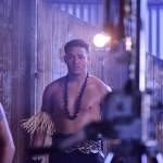 Pacific Island Boys on set for the Pati video from the LogTronix Album